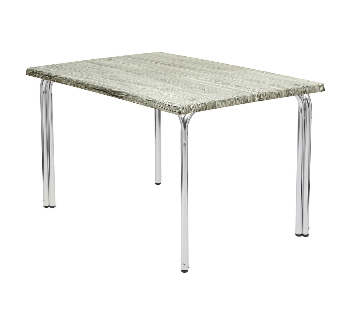 Mesa doble pata rectangular aluminio pulido tablero top urban