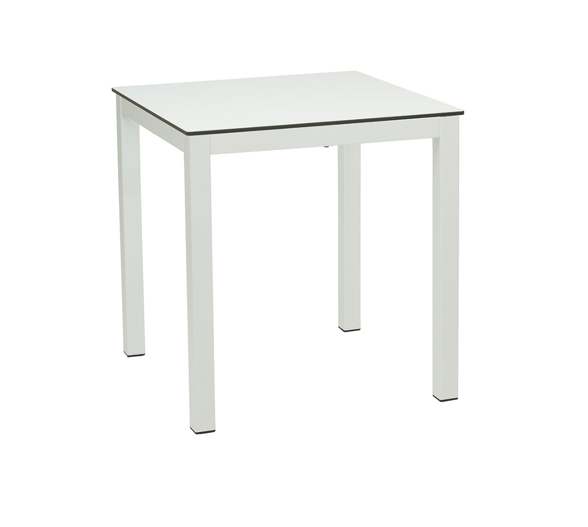 Mesa Glad a 75 aluminio color blanco texturado tablero compacto blanco