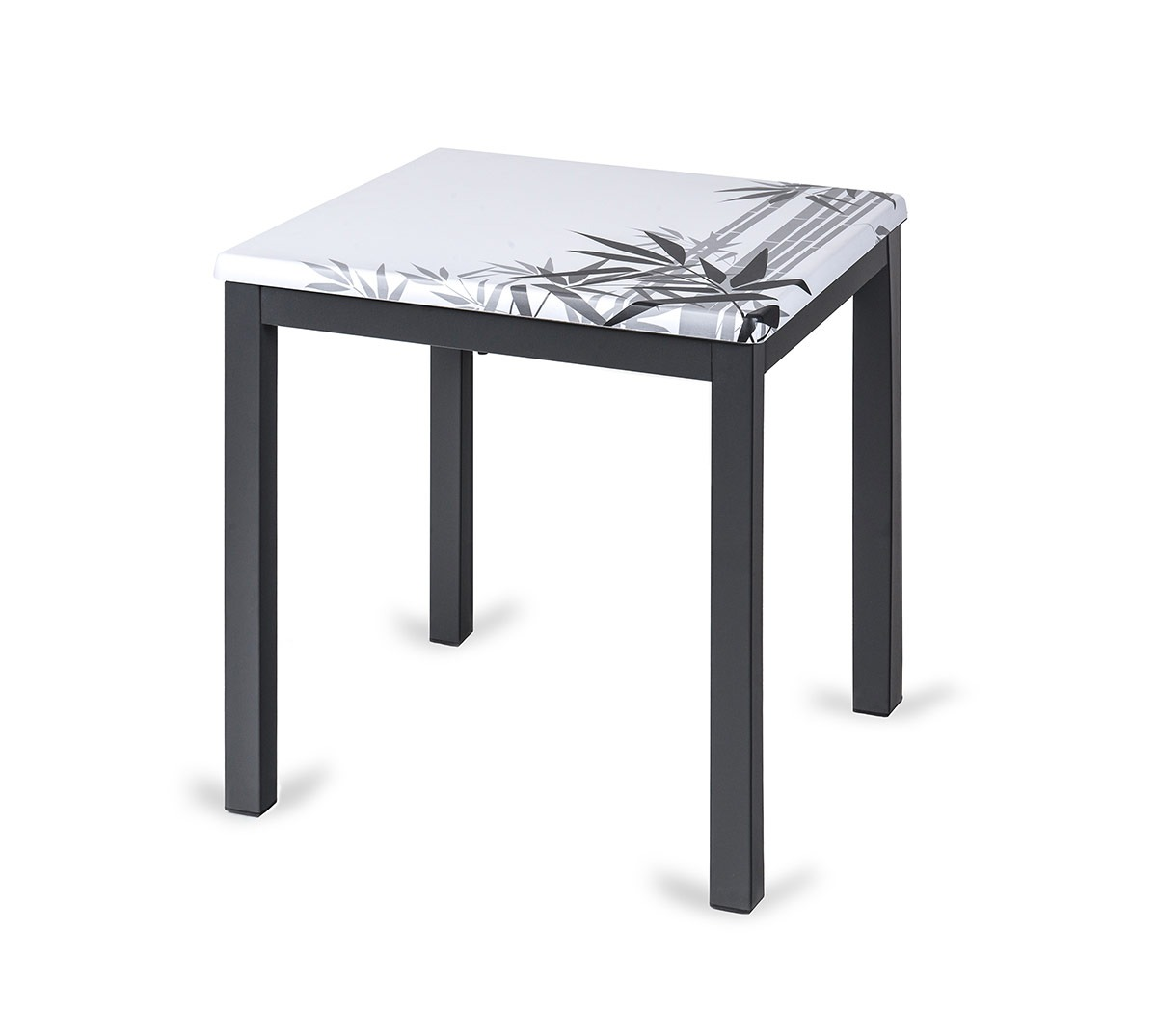 Mesa Glad a 75 aluminio color grafito tablero top Caribe