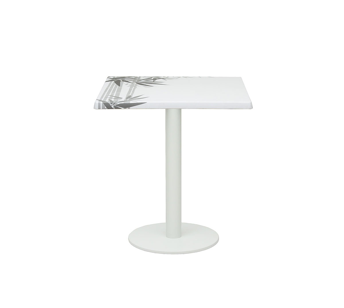 Mesa Golden a 75 aluminio color blanco texturado tablero top Caribe