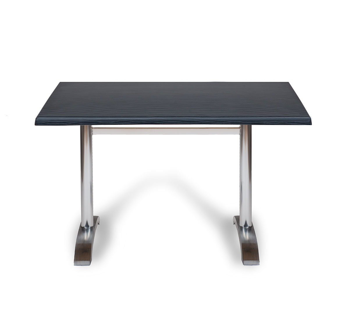 Mesa Oporto a 75 rectangular aluminio pulido tablero top mar negro