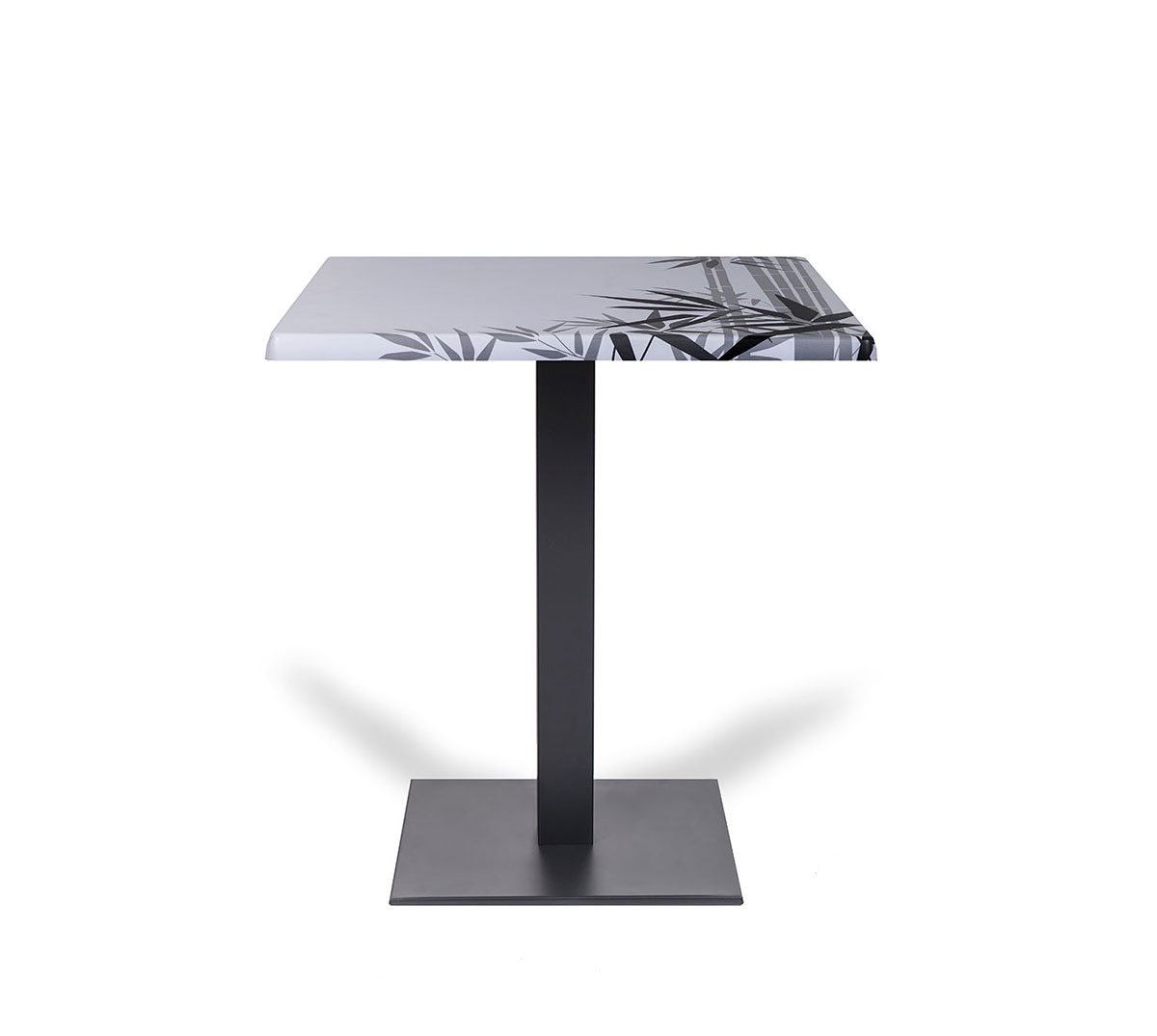 Mesa Sidney a 75 aluminio color grafito tablero top caribe
