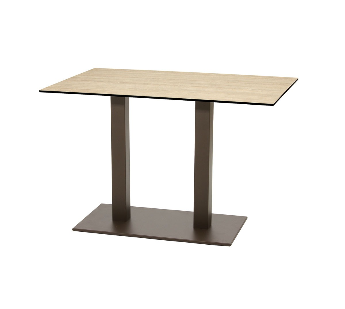 Mesa Sidney a 75 rectangular aluminio color óxido marrón tablero compacto roble rural